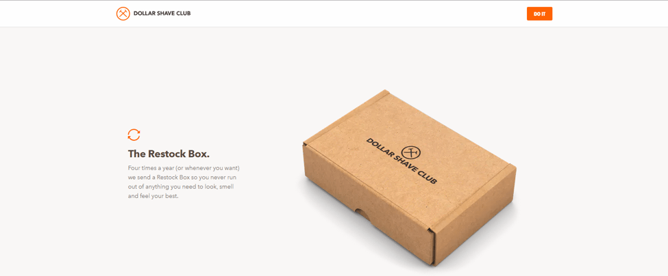 Dollar Shave Club Branded Packaging Example