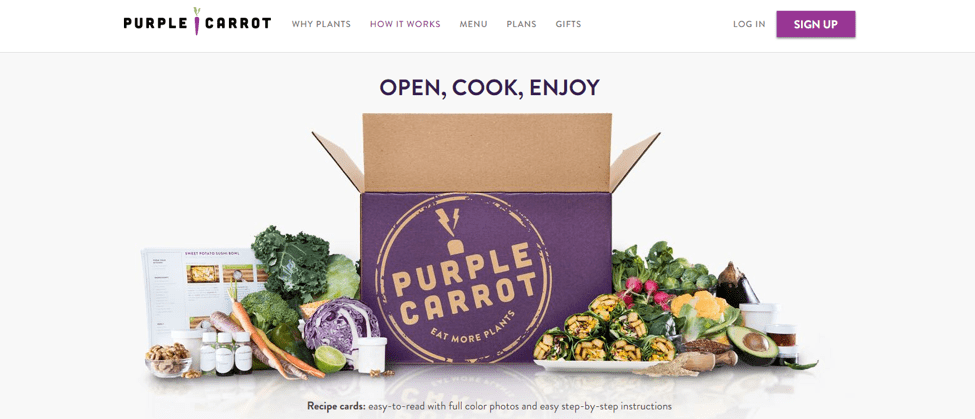 Purple Carrot Custom Printed Boxes Example