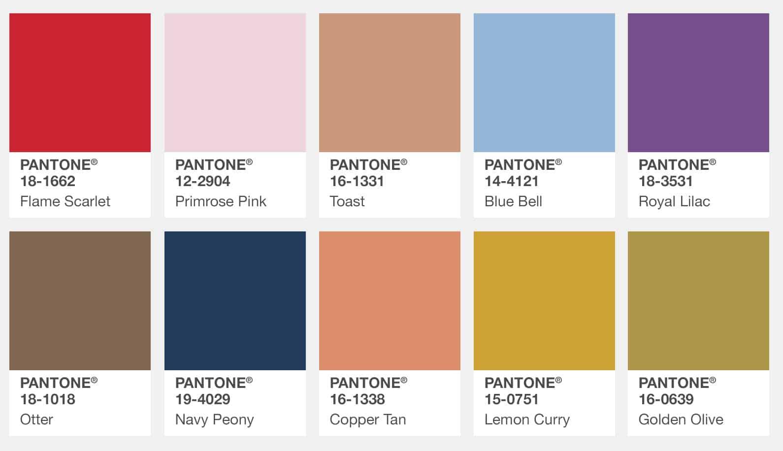 PMS Color Matching Palettes